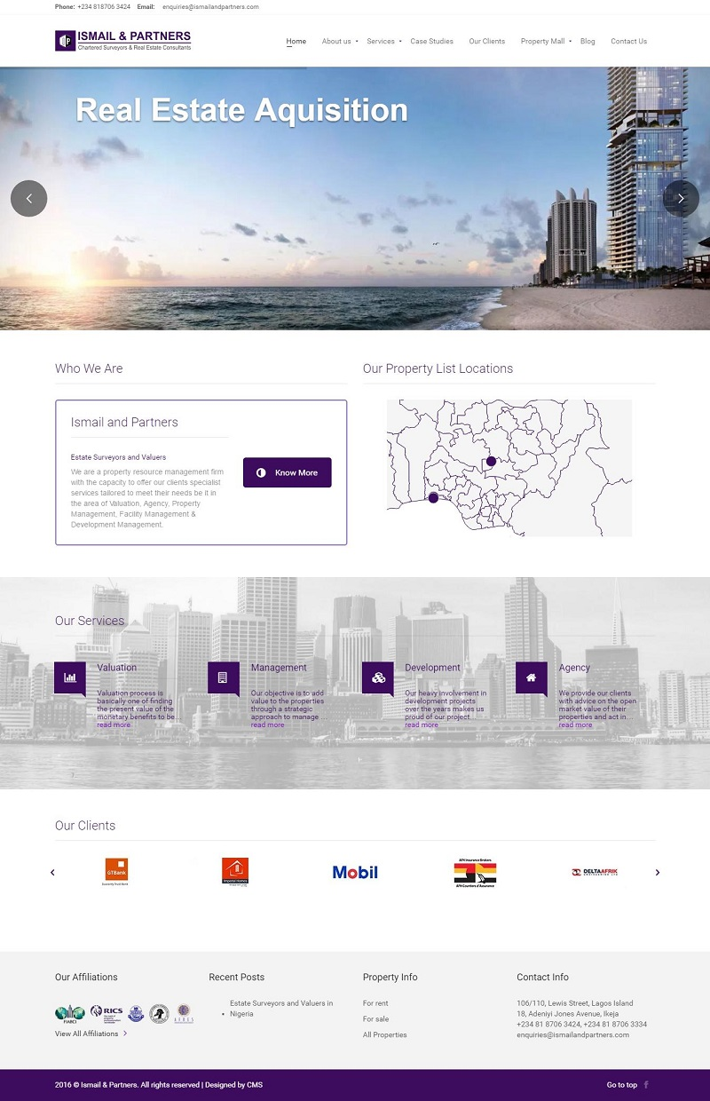 Ismail And Partners Website Design Contemporary Media Solutions