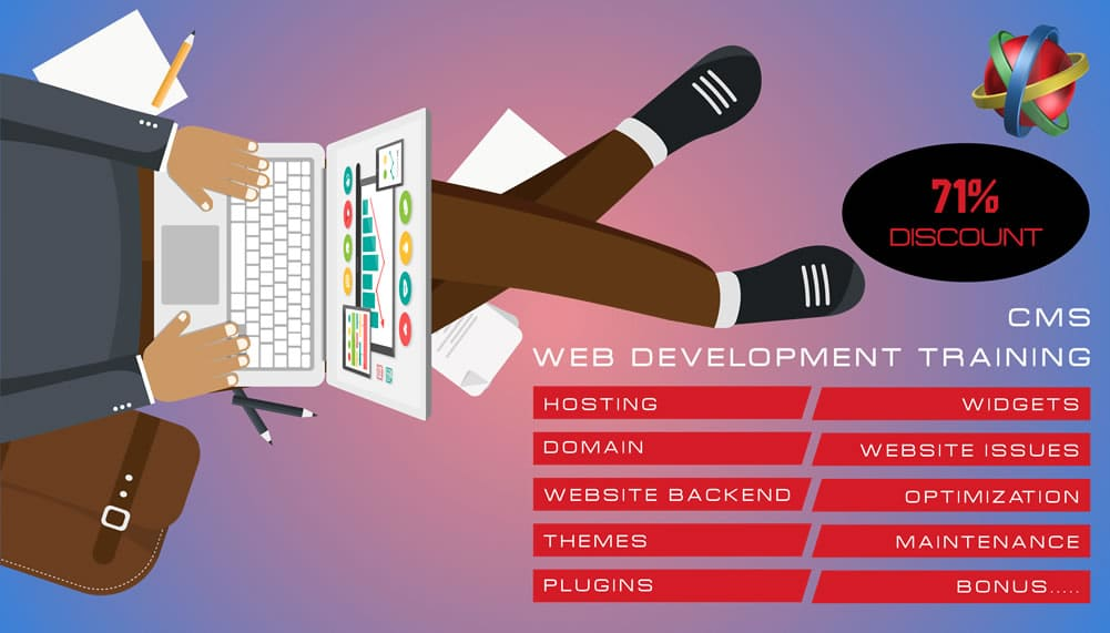 web development training and website development training banner